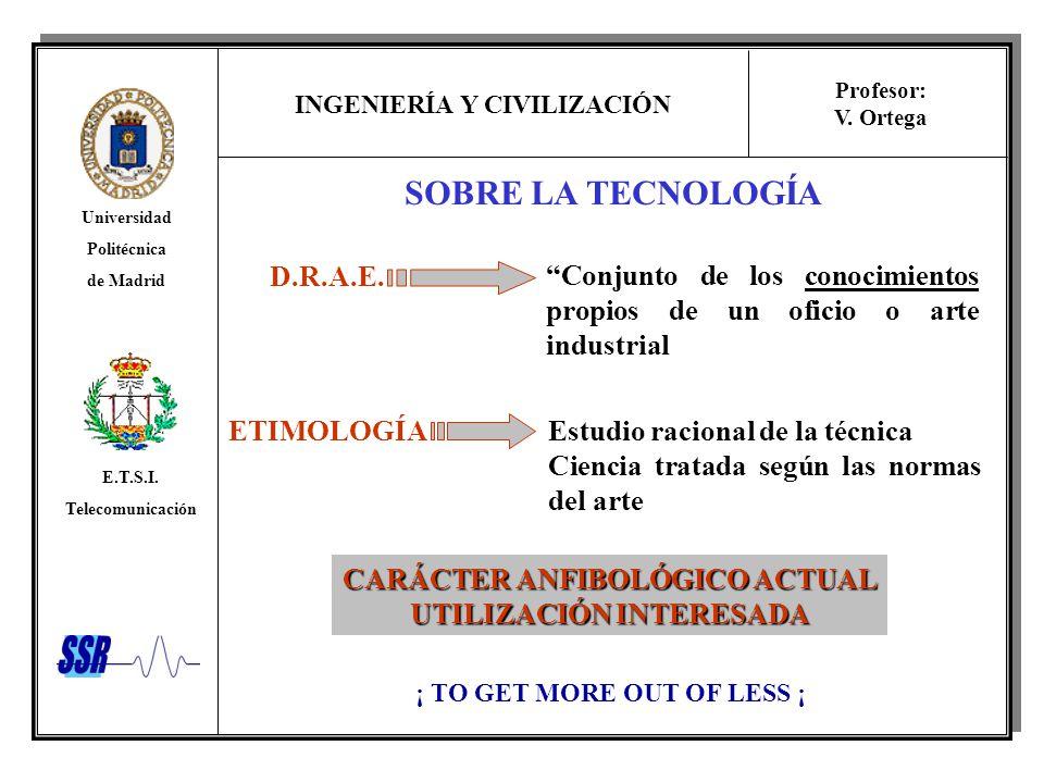 SOBRE LA TECNOLOGÍA D.R.A.E.