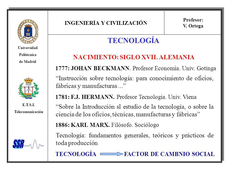 TECNOLOGÍA NACIMIENTO: SIGLO XVII. ALEMANIA