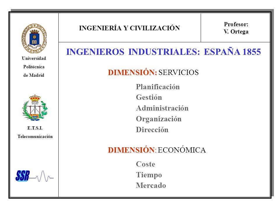 INGENIEROS INDUSTRIALES: ESPAÑA 1855