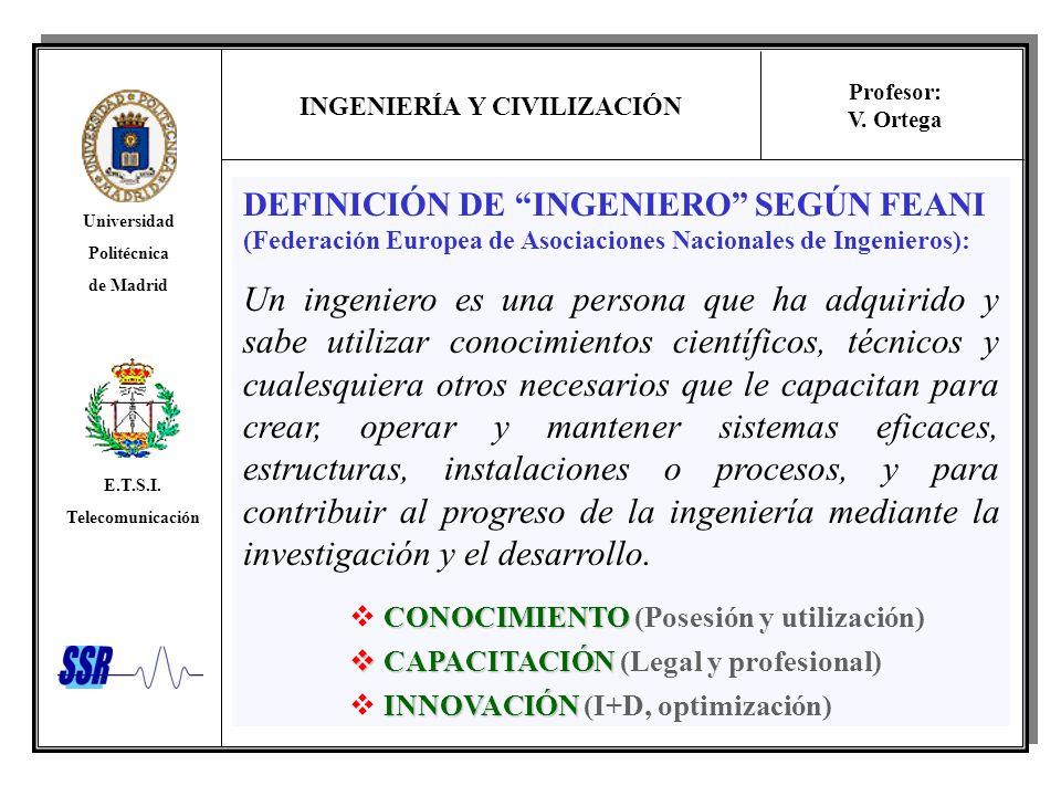 DEFINICIÓN DE INGENIERO SEGÚN FEANI