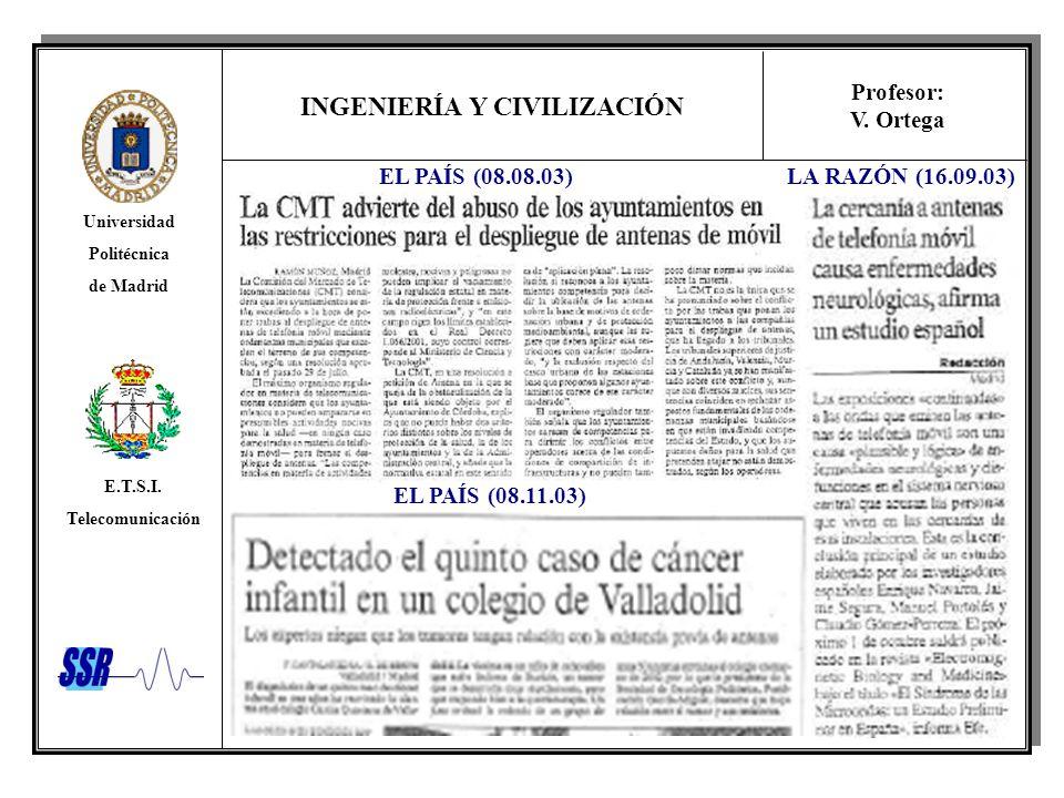 EL PAÍS (08.08.03) LA RAZÓN (16.09.03) EL PAÍS (08.11.03)