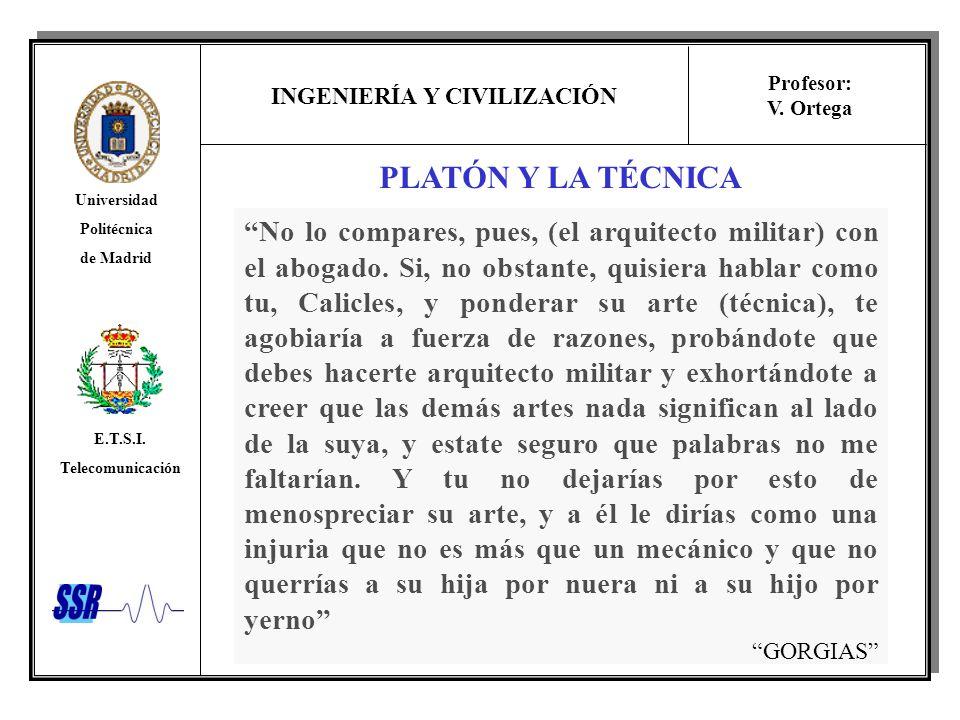 PLATÓN Y LA TÉCNICA
