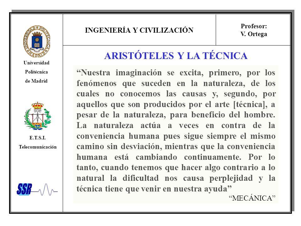 ARISTÓTELES Y LA TÉCNICA