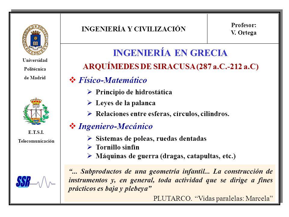 ARQUÍMEDES DE SIRACUSA (287 a.C.-212 a.C)