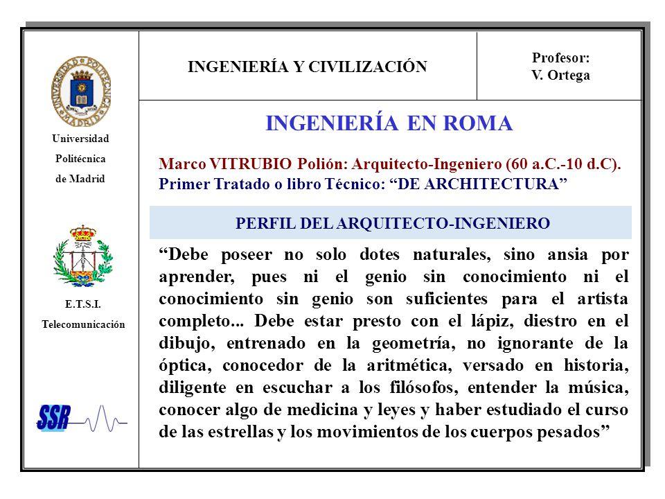 PERFIL DEL ARQUITECTO-INGENIERO