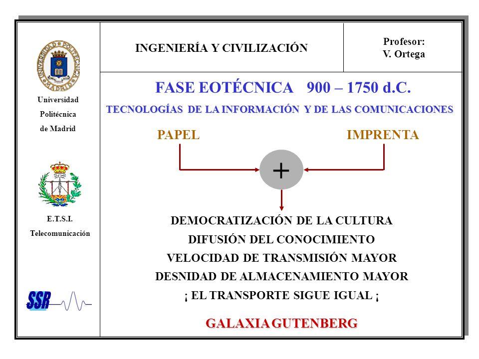 + FASE EOTÉCNICA 900 – 1750 d.C. PAPEL IMPRENTA GALAXIA GUTENBERG