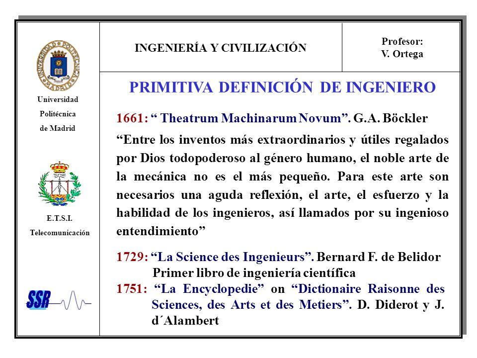 PRIMITIVA DEFINICIÓN DE INGENIERO