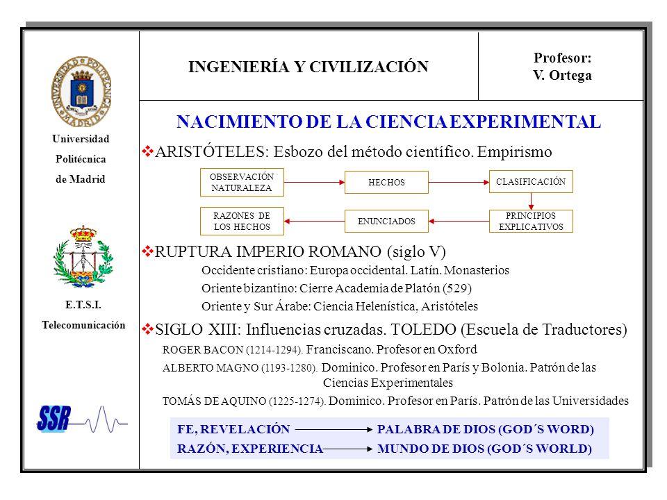 NACIMIENTO DE LA CIENCIA EXPERIMENTAL