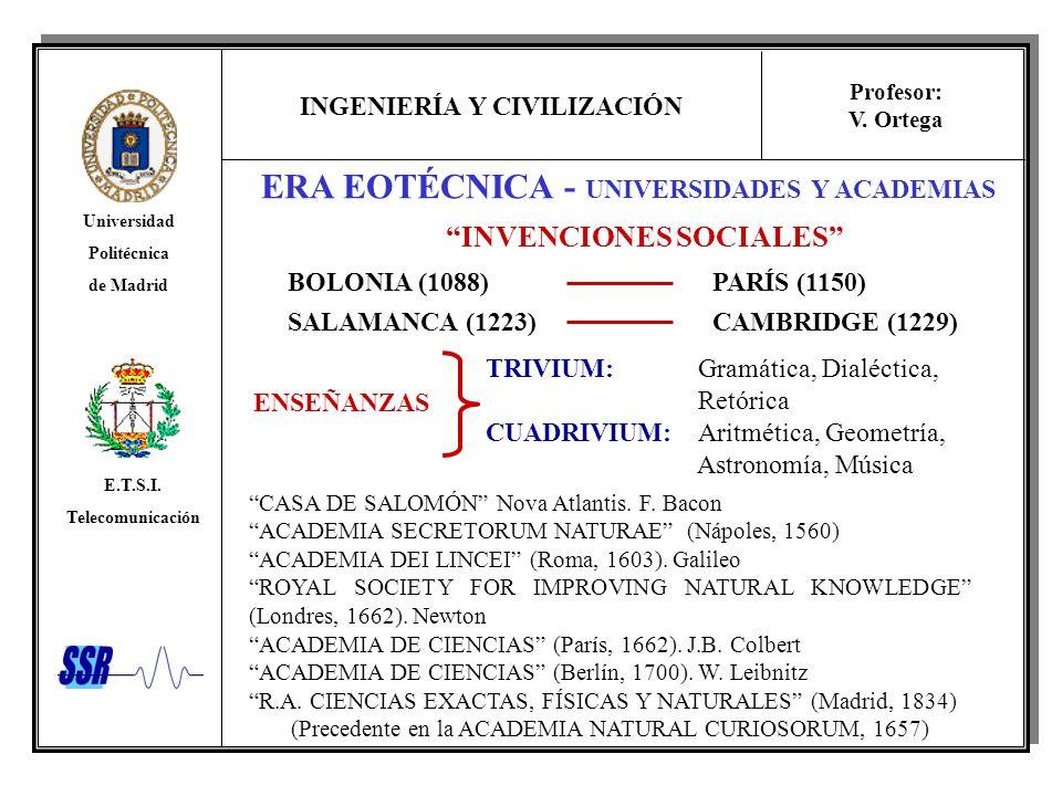 ERA EOTÉCNICA - UNIVERSIDADES Y ACADEMIAS