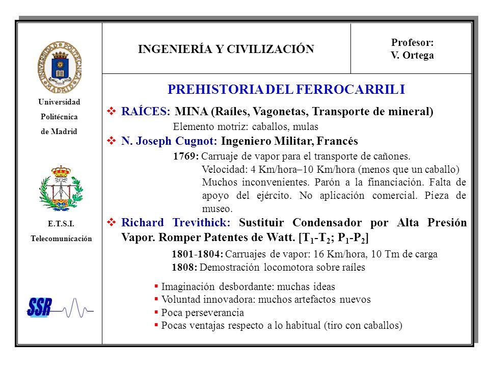 PREHISTORIA DEL FERROCARRIL I