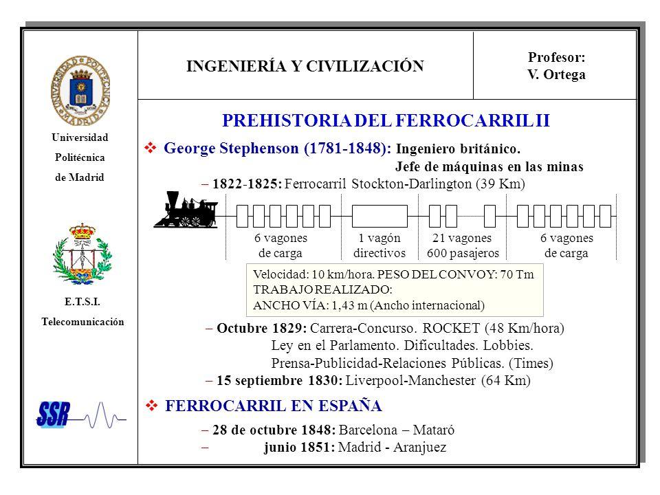 PREHISTORIA DEL FERROCARRIL II