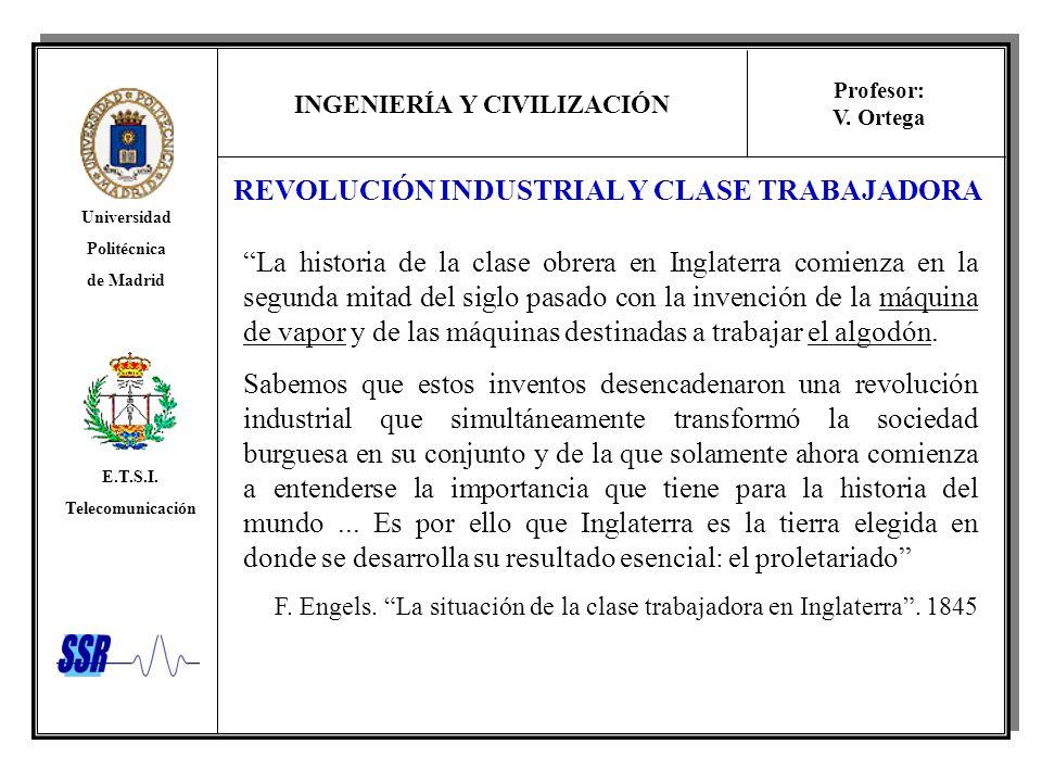 REVOLUCIÓN INDUSTRIAL Y CLASE TRABAJADORA