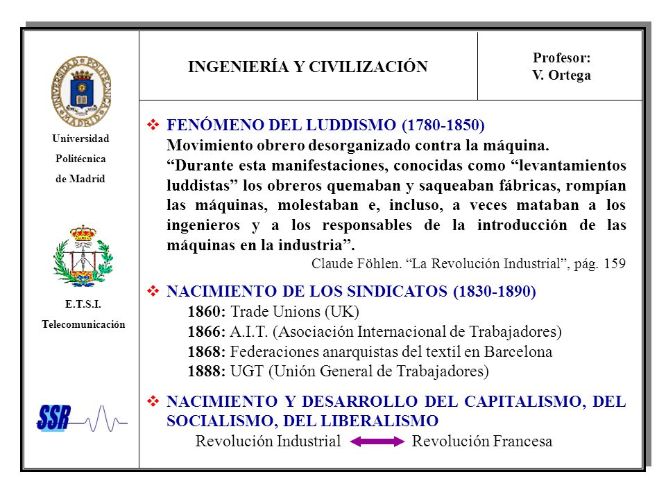 FENÓMENO DEL LUDDISMO (1780-1850)
