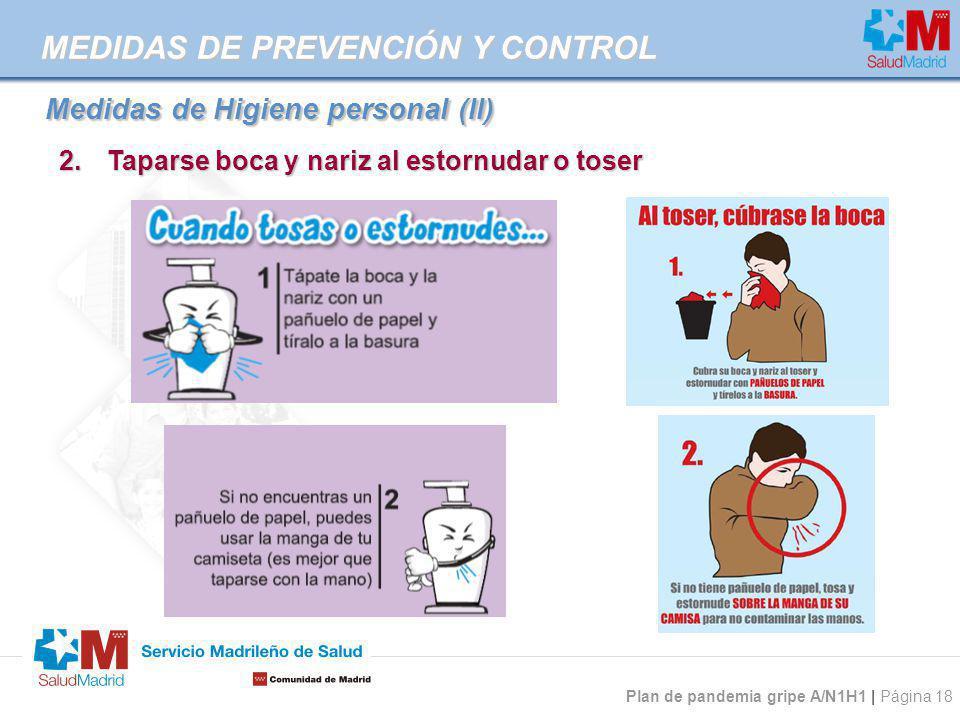 Medidas de Higiene personal (II)