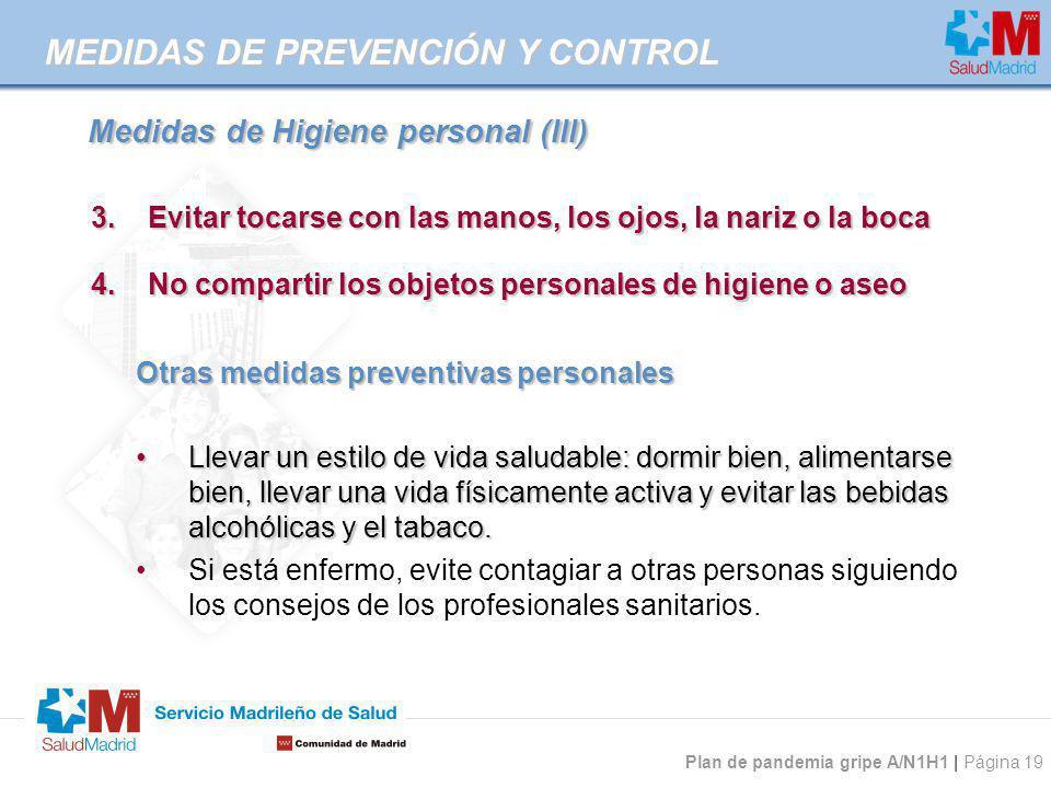Medidas de Higiene personal (III)