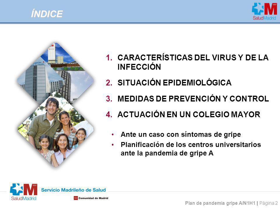 ÍNDICE CARACTERÍSTICAS DEL VIRUS Y DE LA INFECCIÓN