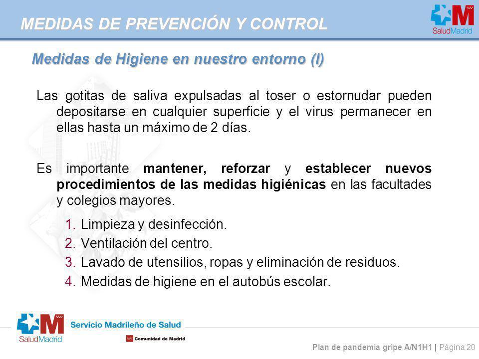 Medidas de Higiene en nuestro entorno (I)