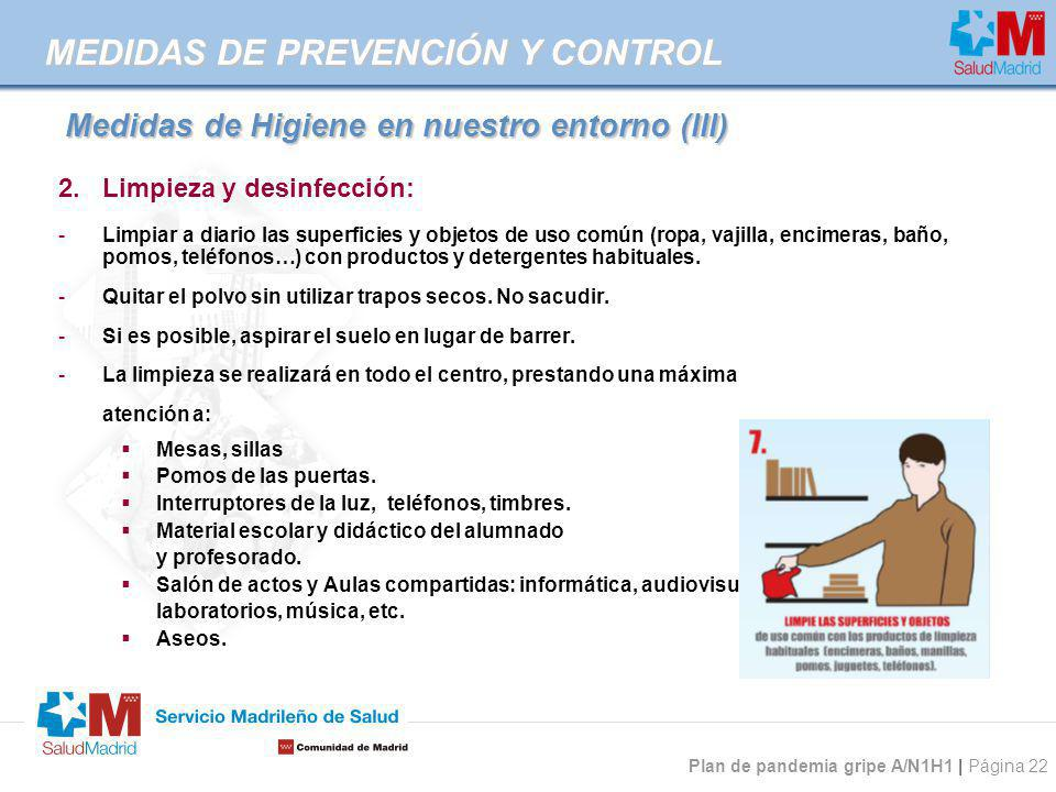 Medidas de Higiene en nuestro entorno (III)