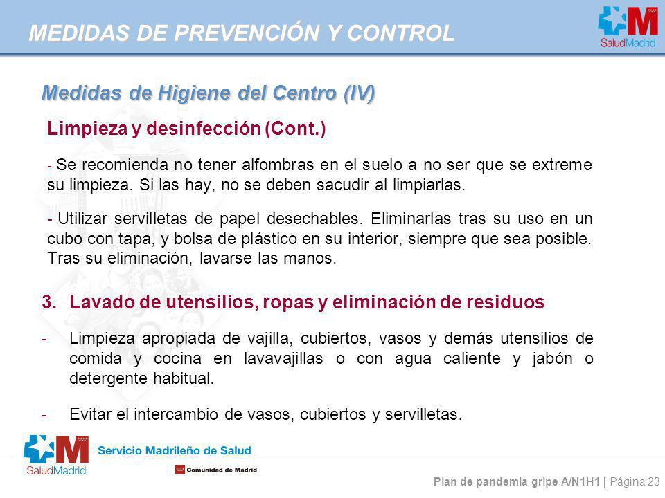 Medidas de Higiene del Centro (IV)