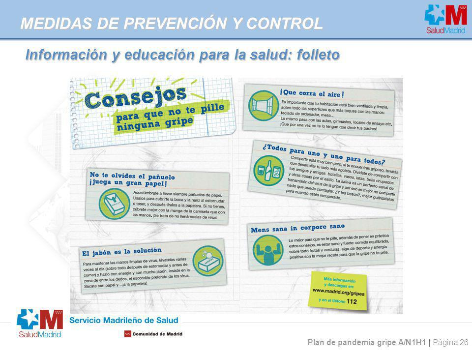 Información y educación para la salud: folleto