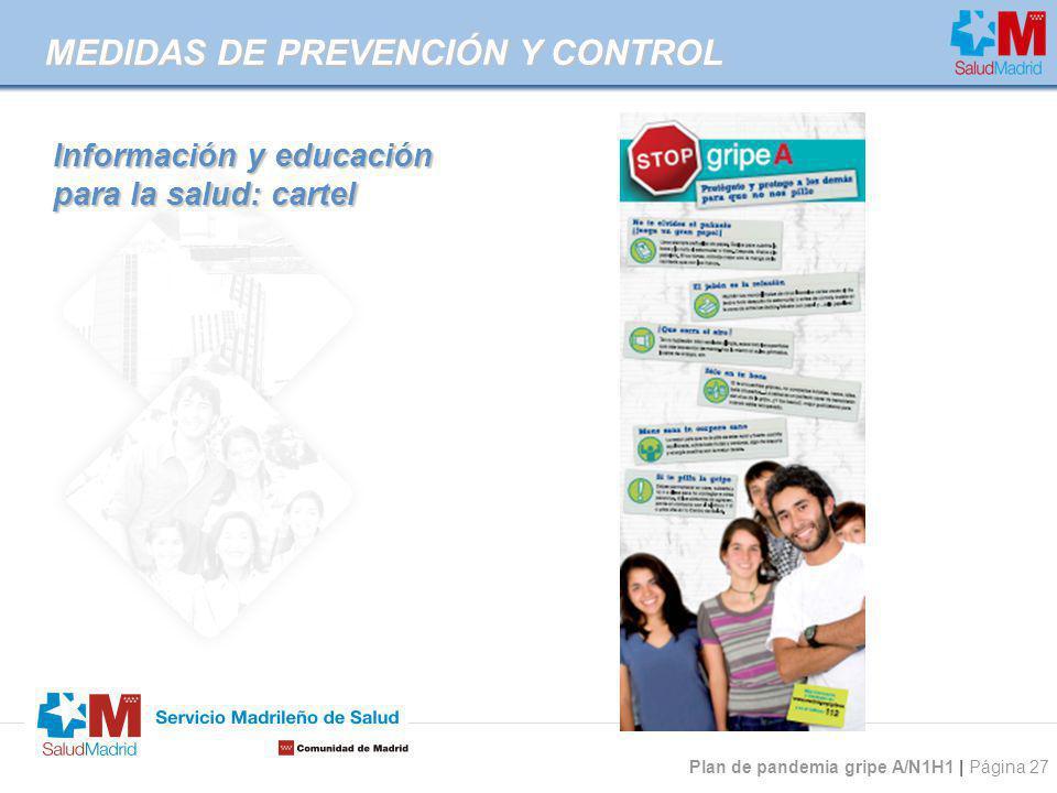 Información y educación para la salud: cartel