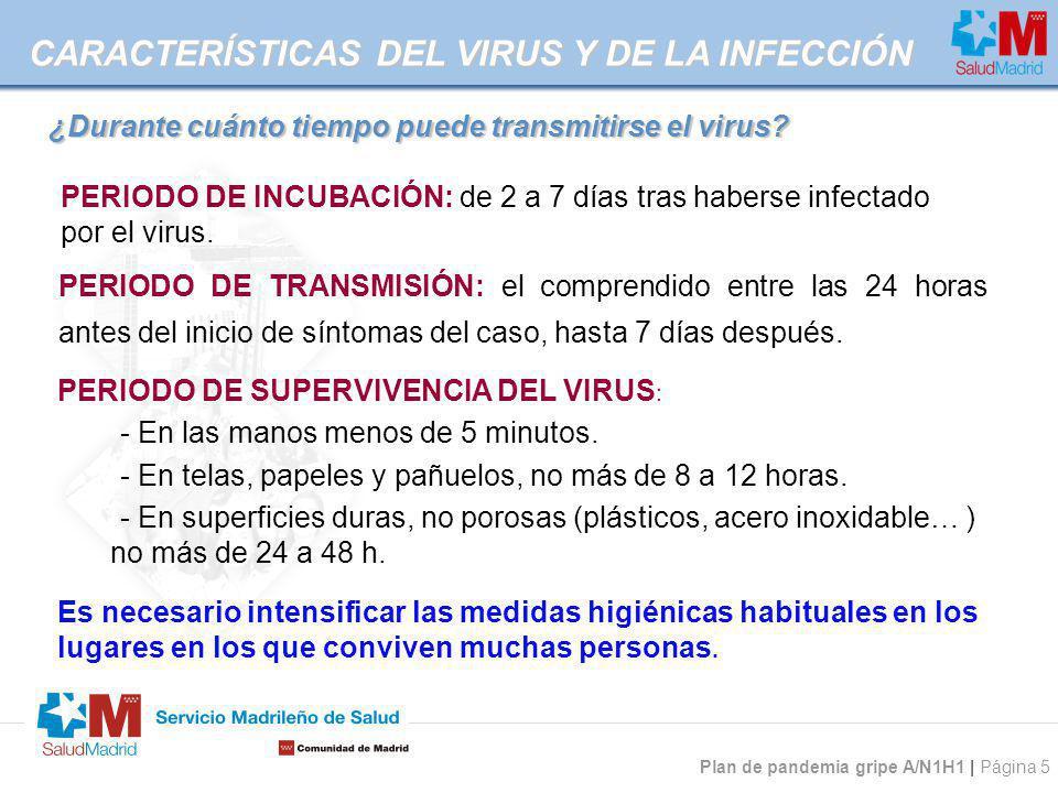 ¿Durante cuánto tiempo puede transmitirse el virus