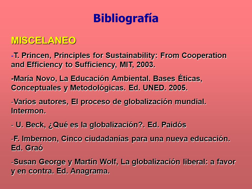 Bibliografía MISCELANEO