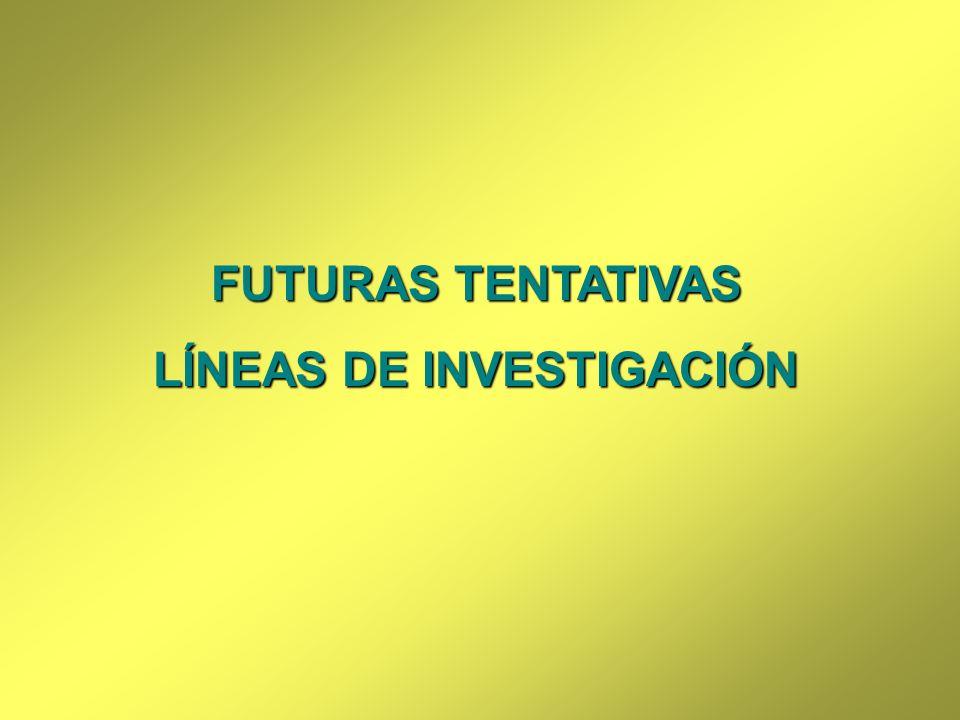 LÍNEAS DE INVESTIGACIÓN