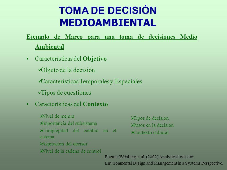 TOMA DE DECISIÓN MEDIOAMBIENTAL