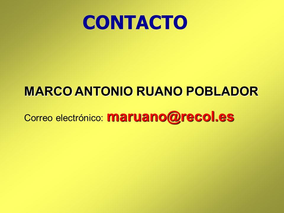 CONTACTO MARCO ANTONIO RUANO POBLADOR