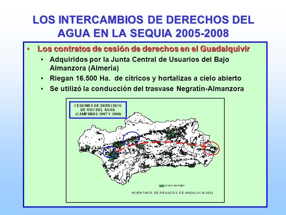 LOS INTERCAMBIOS DE DERECHOS DEL AGUA EN LA SEQUIA 2005-2008