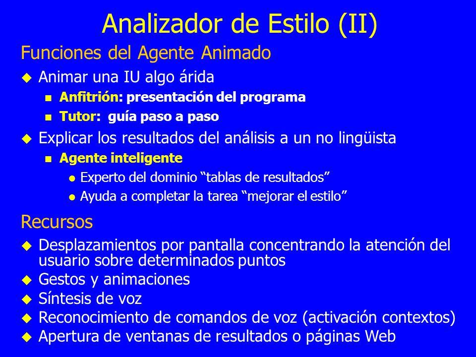 Analizador de Estilo (II)