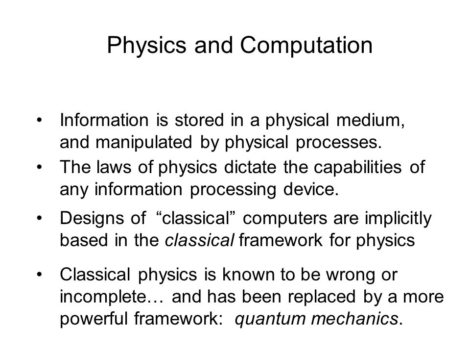 Physics and Computation