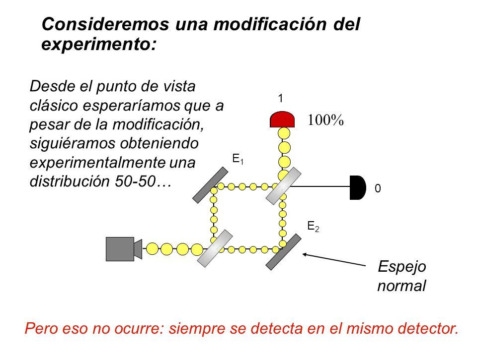 Pero eso no ocurre: siempre se detecta en el mismo detector.