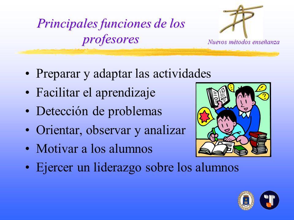 Principales funciones de los profesores