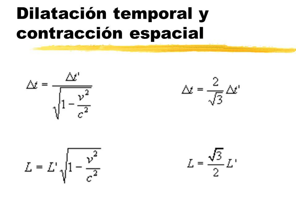 Dilatación temporal y contracción espacial