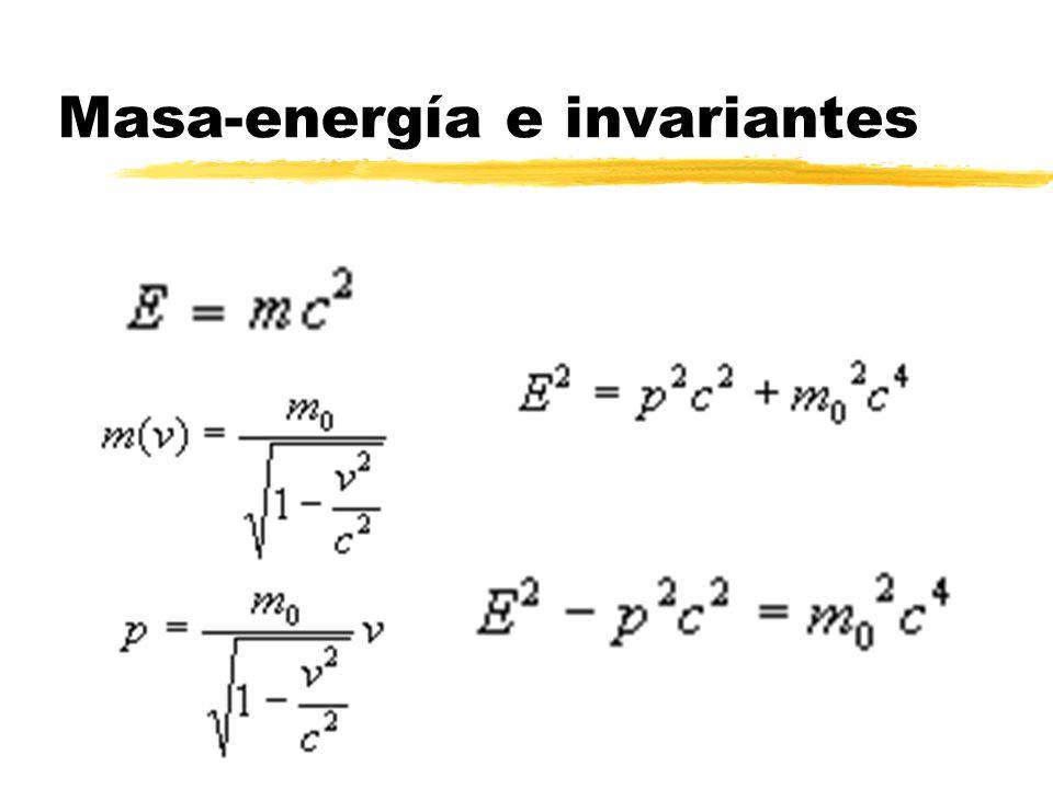 Masa-energía e invariantes