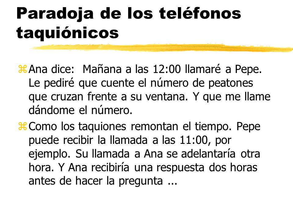 Paradoja de los teléfonos taquiónicos