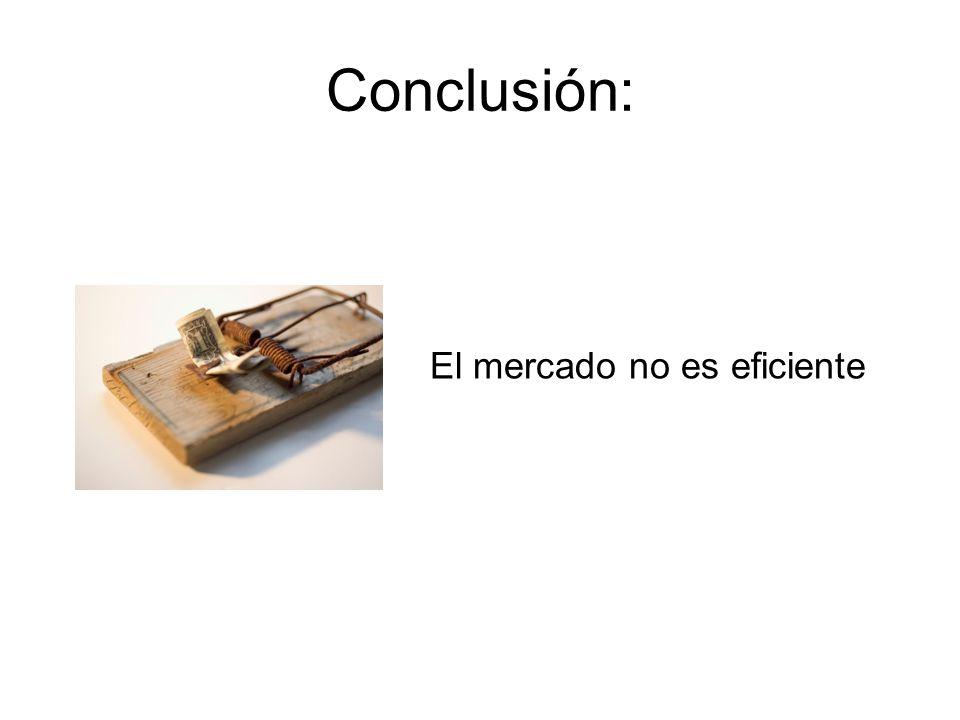 Conclusión: El mercado no es eficiente