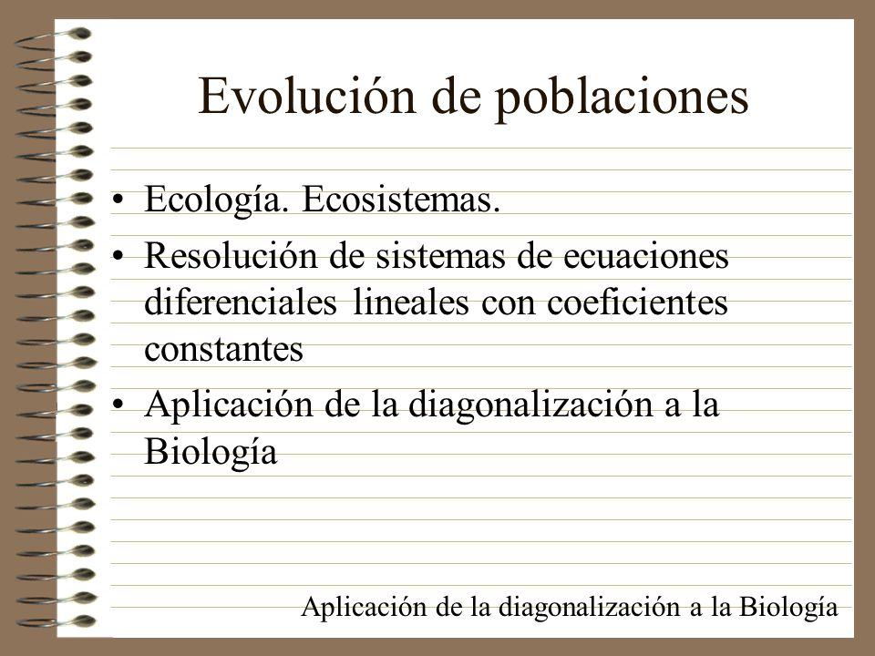 Evolución de poblaciones