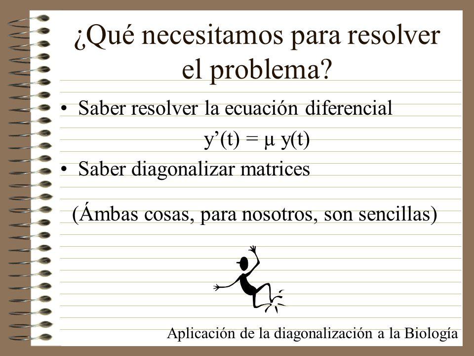 ¿Qué necesitamos para resolver el problema