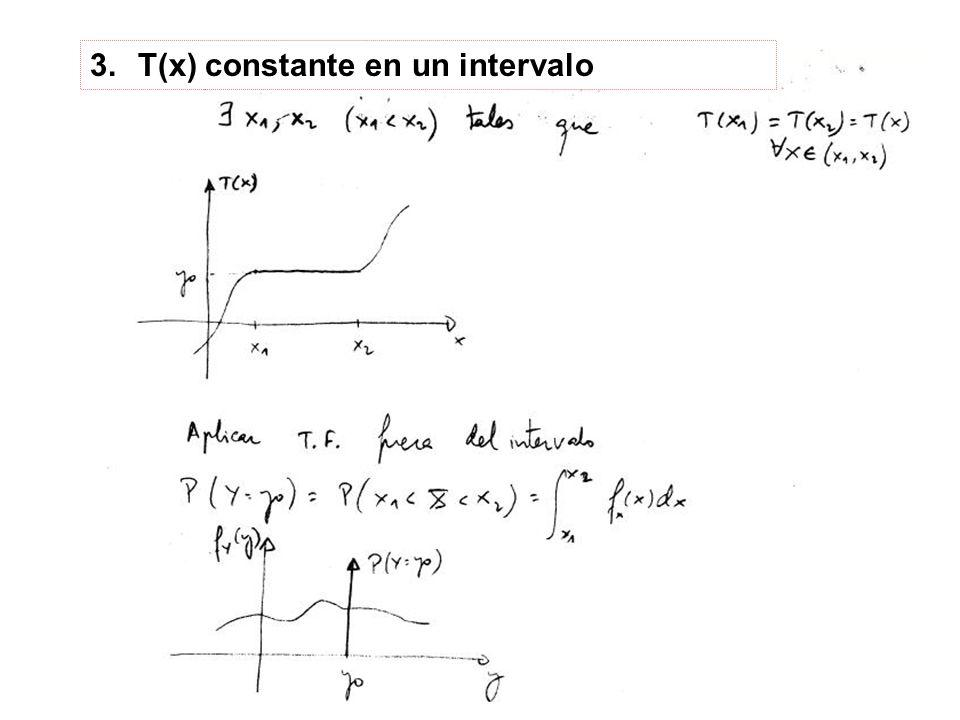 T(x) constante en un intervalo