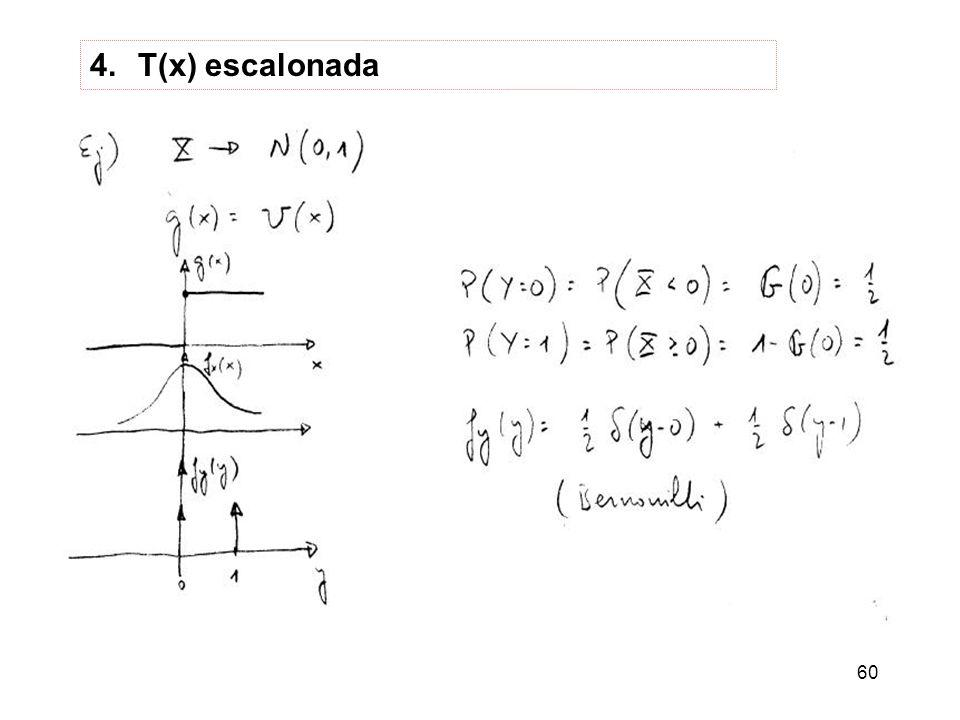T(x) escalonada