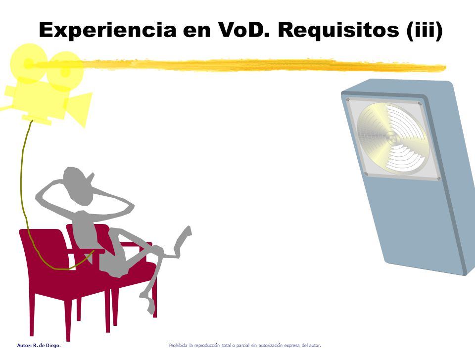 Experiencia en VoD. Requisitos (iii)