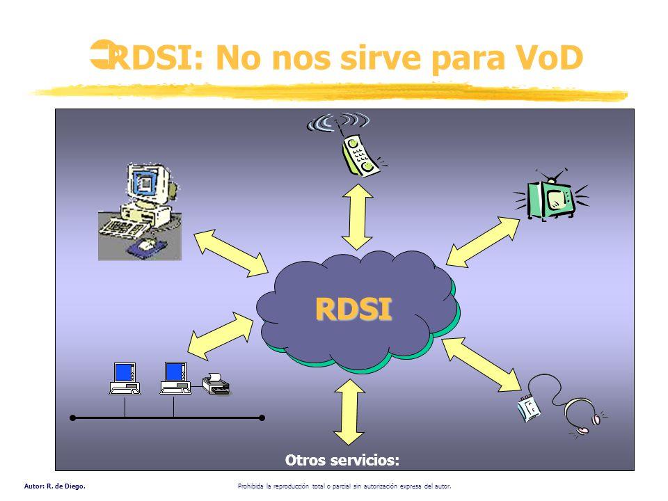 RDSI: No nos sirve para VoD
