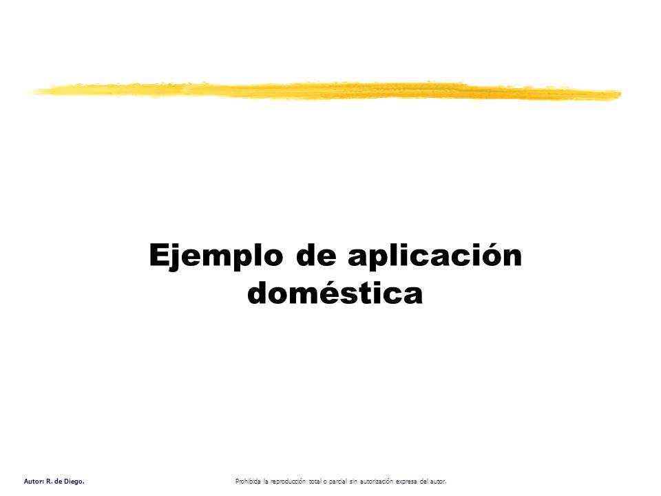 Ejemplo de aplicación doméstica
