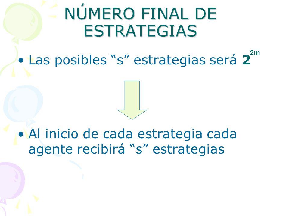 NÚMERO FINAL DE ESTRATEGIAS