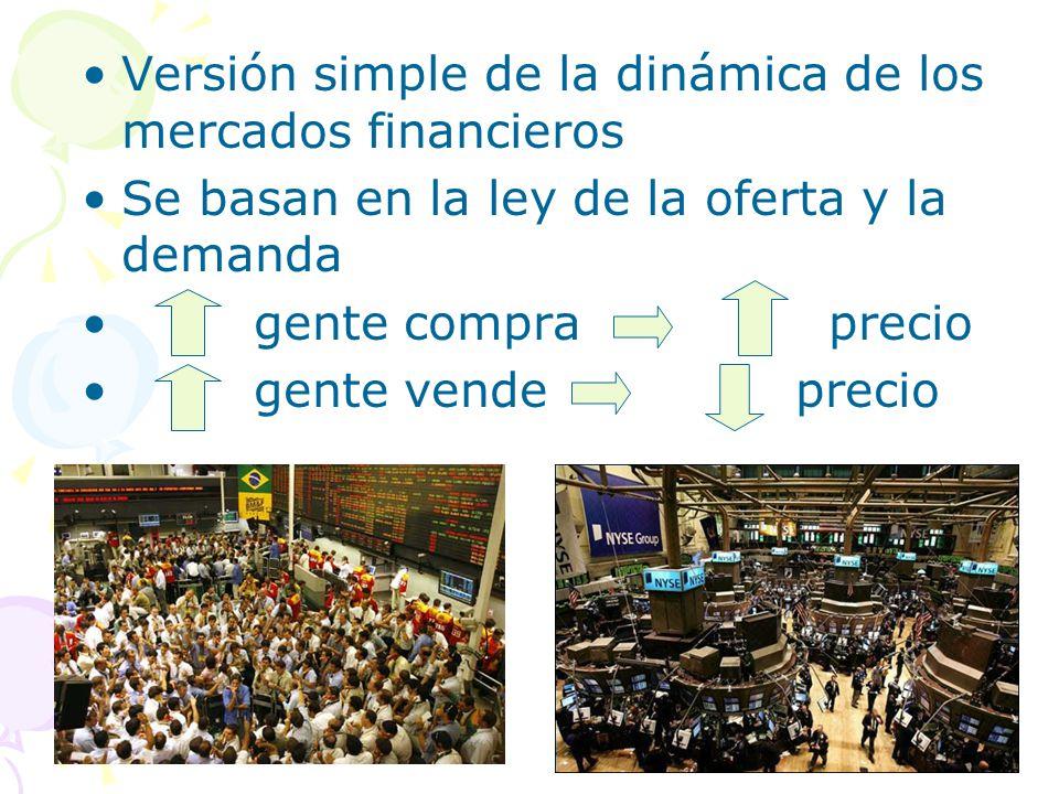 Versión simple de la dinámica de los mercados financieros