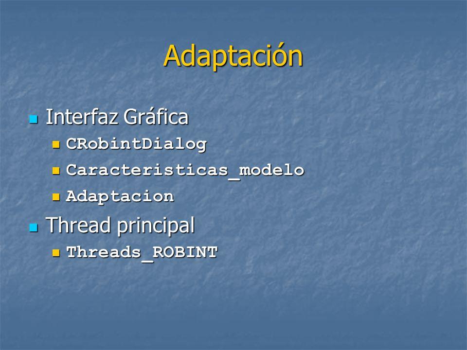 Adaptación Interfaz Gráfica Thread principal CRobintDialog