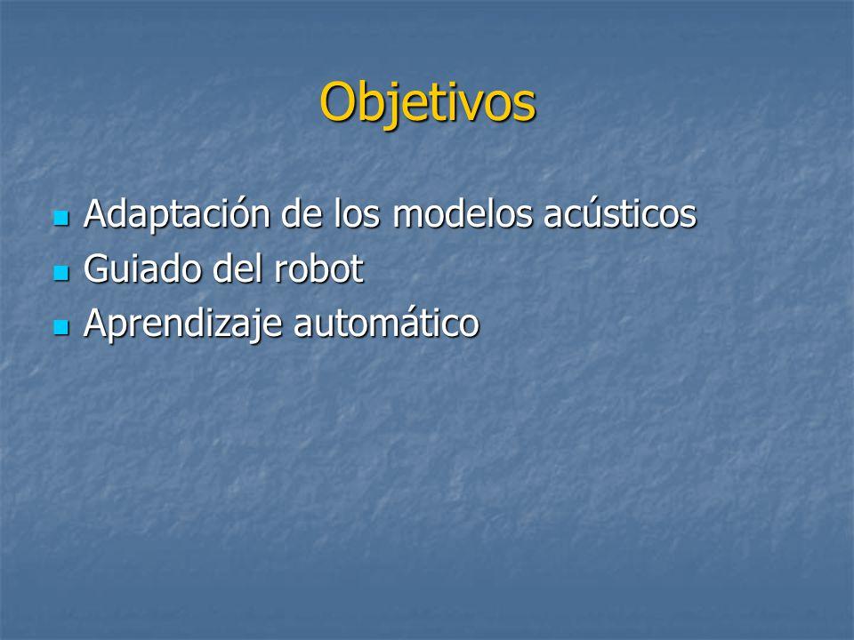Objetivos Adaptación de los modelos acústicos Guiado del robot